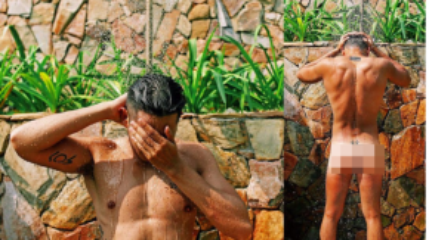 Trên trang Instagram của mình, nam diễn viên Con ma nhà họ Vương liên tục khoe những hình ảnh từ sexy, quyến rũ đến nhạy cảm khiến người xem đỏ mặt. Dù bức ảnh nhân vật nam đang che mặt nhưng không ai khác ngoài Hồ Vĩnh Khoa trong bức ảnh này bởi những hình xăm quen thuộc nằm rải rác khắp cơ thể.