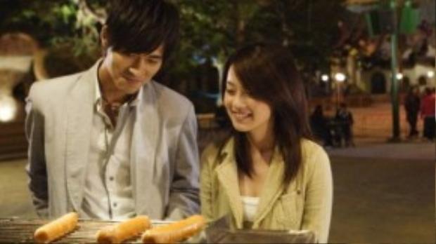 Cặp đôi gặp nhau trên phim trường Anh hùng du côn năm 2008.