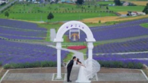 Hai vợ chồng ghi lại những khoảnh khắc hạnh phúc, ngọt ngào bên nhau.