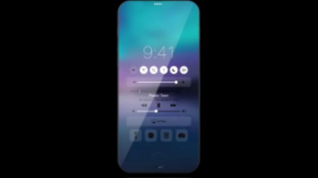 Concept độc đáo này đến từ CiP. Theo đó, không gian hiển thị sẽ tràn khắp mặt trước, viền màn hình như biến mất. Người dùng cũng có thể tùy biến nút home tùy theo ý thích.