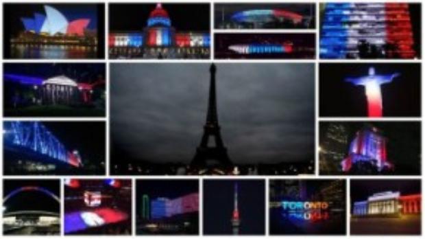 Các quốc gia chia buồn với Paris sau vụ tấn công bằng cách chiếu đèn màu quốc kỳ Pháp. Liệu mỗi ngày trên thế giới xảy ra những vụ khủng bố, thương vong tương tự, màu cờ các nước gặp nạn có được sáng lên đồng cảm như thế này?