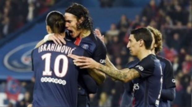 Cavani cũng không phải lựa chọn hàng đầu để đá phạt khi Zlatan còn ở PSG.
