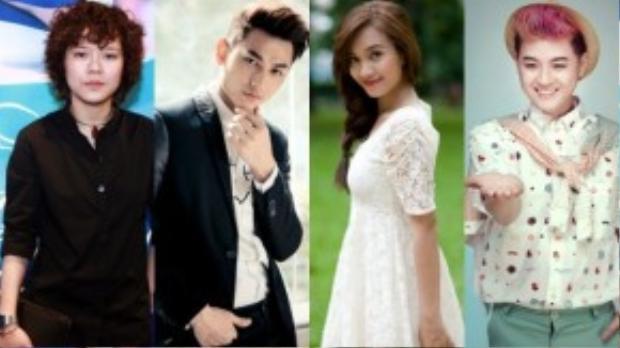 Tiên Tiên, Isaac, Ái Phương và Thanh Duy là 4 cái tên nhận được nhiều bình chọn nhất từ các nhà báo - phóng viên để đi tiếp ở hạng mục Nghệ sĩ mới của năm.
