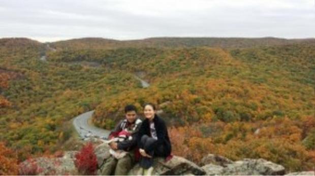 Tuyết Lan và bạn trai thường xuyên có những chuyến du lịch cùng nhau.
