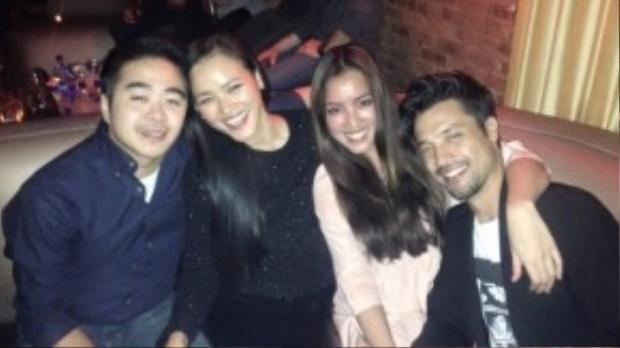 Tuyết Lan và bạn trai hội ngộ cùng người đẹp Huỳnh Bích Phương tại Mỹ.