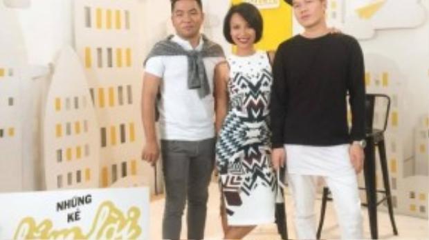 VJ MC Thuỳ Minh, stylist Lê Minh Ngọc và nhà văn Nguyễn Ngọc Thạch.