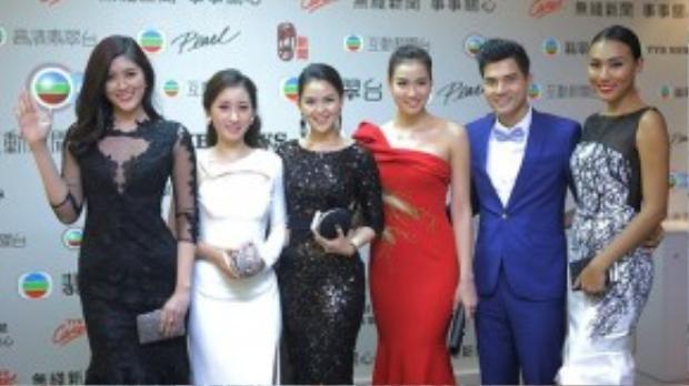 Đoàn phim Valentines rạng rỡ trên thảm đỏ TVB.