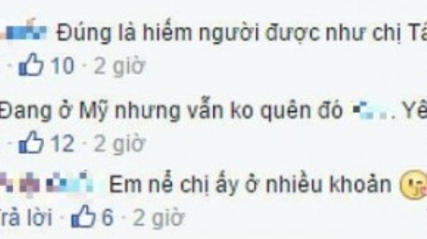Đoạn trò chuyện giữa Khánh Ngọc và một nhà báo bằng những bình luận bên dưới status.