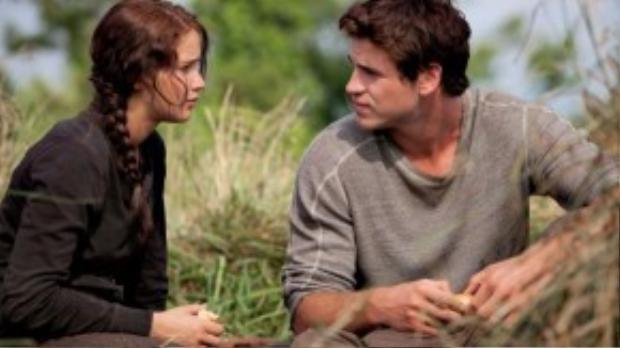 Tình yêu tuyệt đẹp của Katniss và Gale.