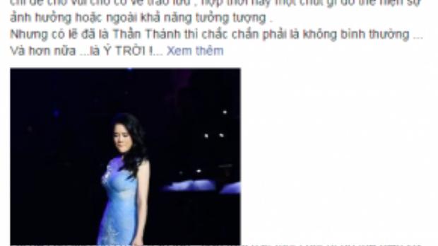 """Những lời chia sẻ gần đây của Thu Phương trên trang cá nhân về """"cú ngã thần thánh""""."""