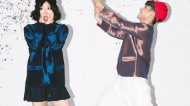 Theo phong cách Trouble Maker, Juun và Suni Hạ Linh khoác lên mình một chút nghịch ngợm, một chút phá cách trong style Hàn Quốc cực ấn tượng.