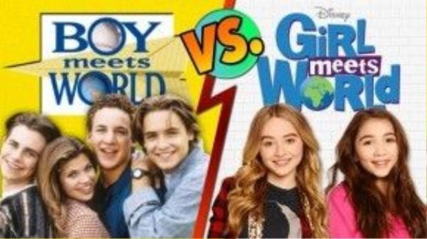 Bản gốc 'Boy Meets World' và spinoff 'Girl Meets World'.