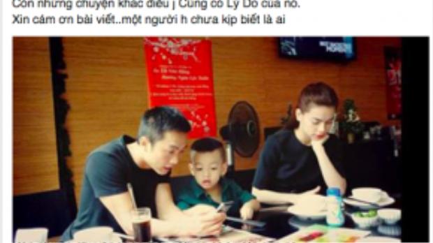 """Status trải lòng của Hà Hồ: """"Hãy cho chúng tôi một cơ hội làm bạn vì con"""""""