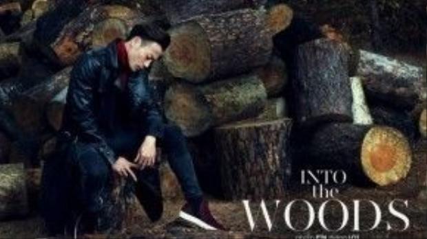 …như bộ ảnh này, trông anh hệt như một gã tiều phu đỏm dáng vô cùng thanh lịch với jacket da và hot item áo cổ lọ.