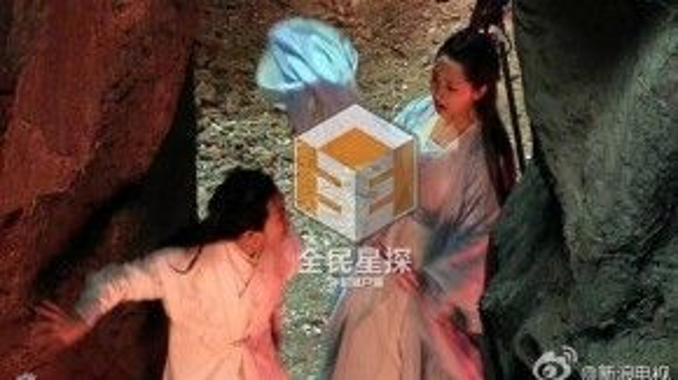 """Dương Tử xinh đẹp trên phim trường của """"Tru tiên - Thanh vân chí""""."""