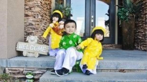 3 con của Huyền Ny là động lực tiếp thêm sức mạnh để Huyền Ny làm việc chăm chỉ trong suốt 1 năm qua.