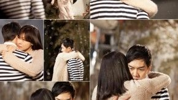 """Trong drama """"The King 2 Hearts"""", Lee Jae Ha (Lee Seung Gi) và Kim Hang Ah (Ha Ji Won) đã gây sốt bởi màn ôm nhau dưới trời tuyết."""