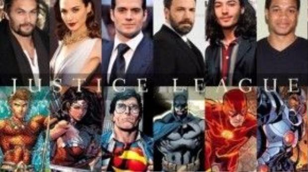 """Đội hình Justice League và những đồn đoán úp mở về việc """"Ai là ai?""""."""