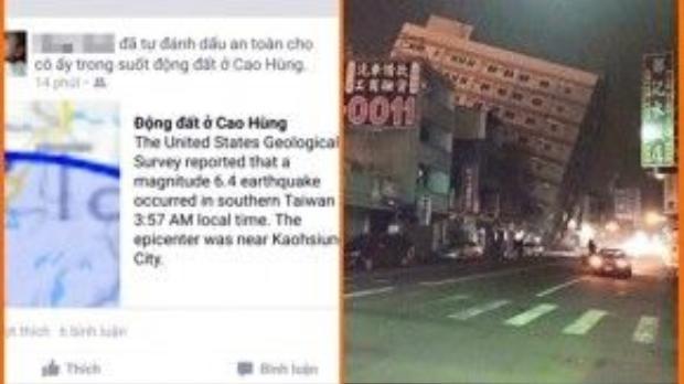 Người Việt tại Đài Loan xác nhận an toàn trên Facebook.
