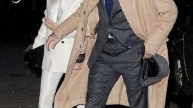 Cũng trong tối 8/2, cặp đôi quyền lực tới dự bữa tiệc tại nhà riêng của tổng biên tập tạp chí Vogue - Anna Wintour.