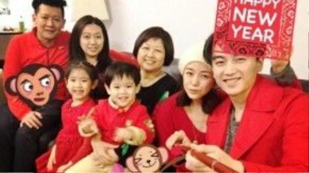 Trước tết vừa rồi, Trần Hiểu đã bay từ Bắc Kinh đến Đài Loan đón Tết cùng gia đình hôn thê.