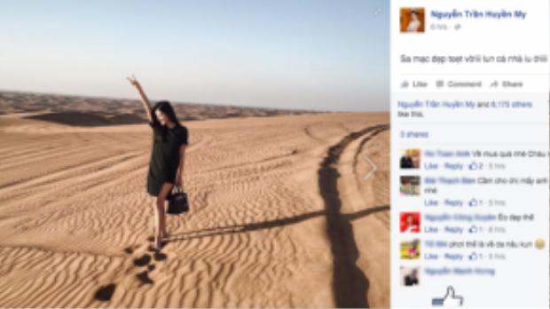 Á hậu Huyền My đang du hí Dubai và cũng là lần đầu tiên trải nghiệm những điều thú vị không tưởng tại đất nước thần kỳ này.