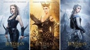 Ba sao nữ đầy quyền uy: Jessica Chastain, Charlize Theron, Emily Blunt.