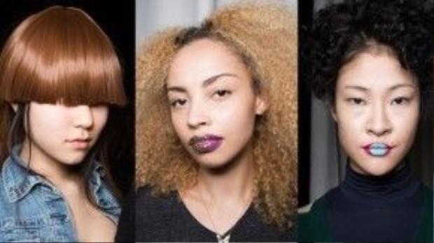 """""""Phong cách tiêc tùng"""" xuất hiện trên mọi vị trí của những cô gái nhà Vfiles. Tuy đơn giản, nhưng nhấn nhá tại một vài điểm trên khuôn mặt đã khiến sắc diện của những mẫu này trông rất cuốn hút, ấn tượng."""