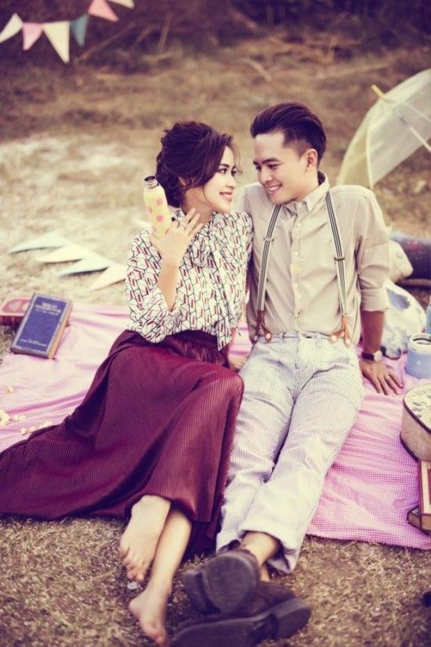 Tú Vi  Văn Anh hạnh phúc trong bộ ảnh kỷ niệm ngày Valentine