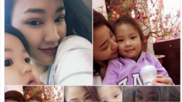 Không quên chia sẻ hình ảnh hạnh phúc bên con gái và các cháu.
