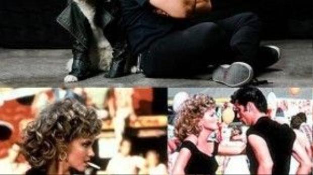 Nàng Sandy (phim Grease) xinh đẹp lột xác từ hình tượng thơ ngây, tiểu thư sang nổi loạn, cá tính với chiếc áo da màu đen và bộ đồ bó sát đã trở thành hình ảnh kinh điển, không những trong lịch sử điện ảnh mà còn cả thời trang thế giới.
