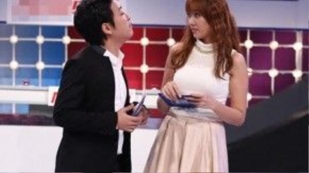 Danh hài Trường Giang sẽ đồng hành cùng Hari Won trong mùa Valentine năm nay.