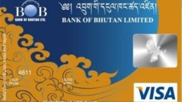 Ngân hàng, thẻ tín dụng, máy ATM không phổ biến ở Bhutan. Ảnh: Bank of Bhutan