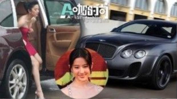 Lưu Diệc Phi: Lưu Diệc Phi thuộc hàng sao Hoa ngữ sở hữu nhiều xế hộp nhất. Cô từng có chiếc Bentley có giá hơn 3 triệu NDT, xe Porsche giá hơn 1,4 triệu tệ, xe Mercedes Benz đắt giá 1,7 triệu NDT. Cô thuộc số ít sao trẻ sở hữu nhiều xe hạng A sang trọng nhất làng giải trí.