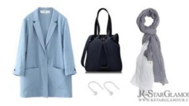 Cả set đồ Song Hye Kyo mặc khi chờ ở sân bay trong chuyến đi làm bác sĩ thiện nguyện cho quân đội.