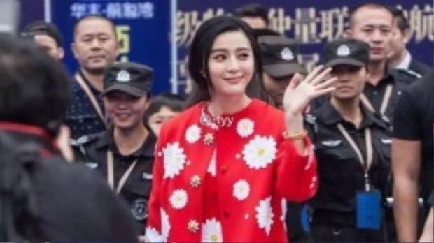 Phạm Băng Băng trong sự kiện mới đây tại Bắc Kinh.