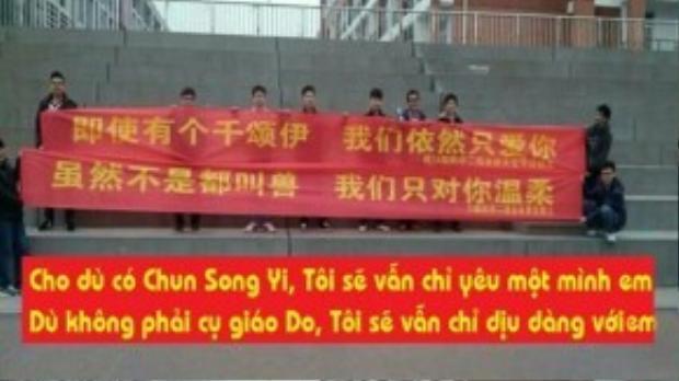 """""""Cho dù có Chun Song Yi, tôi sẽ vẫn chỉ yêu mình em. Dù không phải cụ giáo Do, tôi sẽ vẫn chỉ dịu dàng với em""""."""
