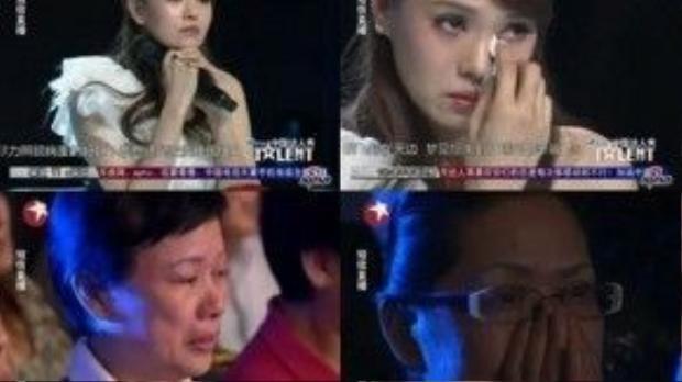 Không chỉ lấy đi nước mắt của giám khảo, cậu bé còn làm cho khán giả vô cùng xúc động.