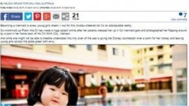 Bài báo về Lê Phạm Khả Di trên tờ Dailymail.