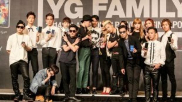 WINNER, BigBang, 2NE1 và một số nghệ sĩ thuộc YG.