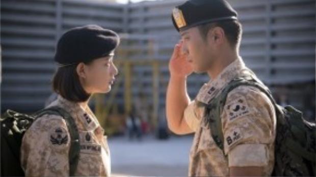 """Với trang phục này, Myung Joo và Jin Goo thực sự trở thành một """"couple"""" hạnh phúc."""
