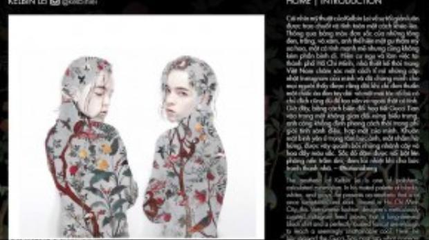 Gucci Tian chính là tên của họa tiết trong chiến dịch lần này, trong đó có hoa văn anh ấy thiết kế dành cho nhà mốt này.