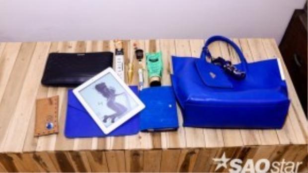 Cá set combo những loại túi từ lớn đến nhỏ bao gồm: túi elle, túi da để ví tiền, túi đựng ipad (made by hand - nhãn hiệu Việt Nam) và cuối cùng là cuốn sổ ghi chép take note da lộn cùng tone túi.