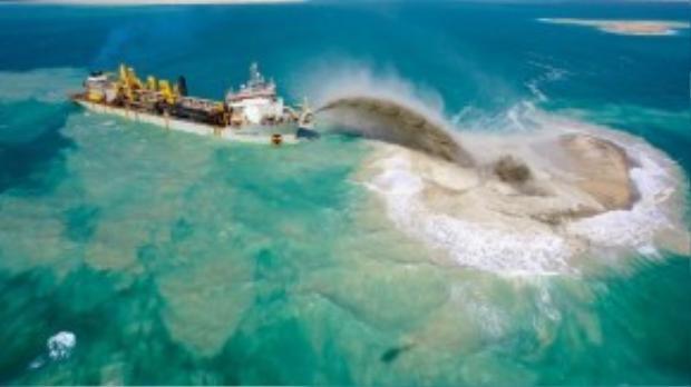 Thành phố đi đầutrong kỹ thuậtxây dựng những hòn đảo nhân tạo trên biển.