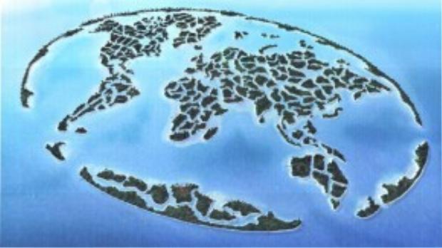 Thế giới nếu được cấu thành từ những hòn đảo nhân tạo do Dubai làm ra sẽ trông như thế này.