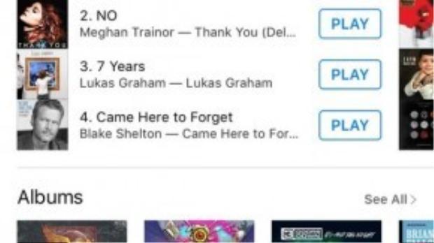 Hiện tại ca khúc đã chính thức leo lên vị trí đầu bảng của BXH iTunes US