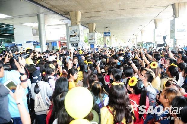 Clip HOT: Hyomin hoảng sợ vì bị dẫm phải chân, T-ara đổi cửa vẫn bị fans vây kín ở sân bay