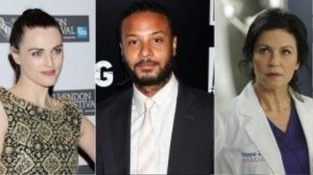 Ba diễn viên chính của series (từ trái qua): Katie McGrath, Brandon Jay McClaren và Wendy Drewson.