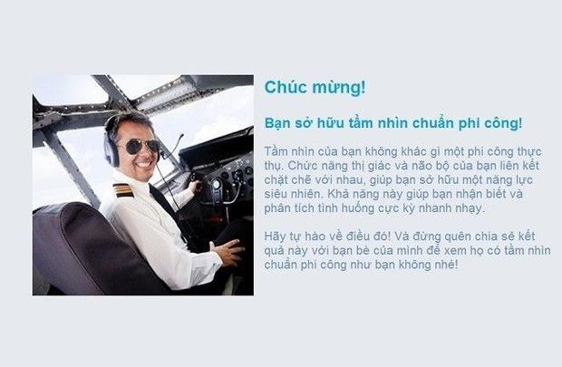 Bài kiểm tra thị giác hại não chỉ có phi công mới vượt qua nổi