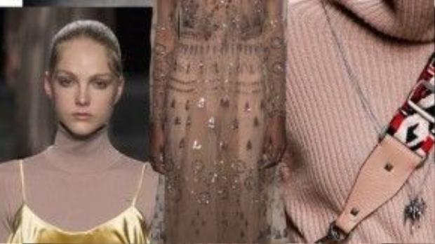 Valentino hướng tới nhiều mẫu thiết kế với sự phong phú về màu sắc cũng như chất liệu và áp sát Valentino về lượt xem.